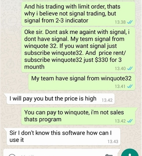 Trader Dari Afghanistan Minta Signal Trading 2