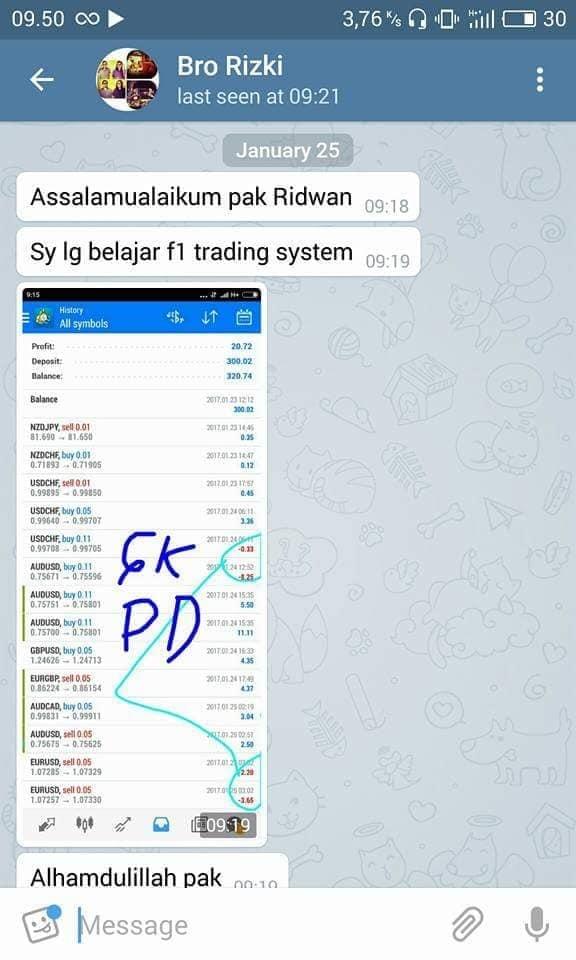 Testimoni dari member online di Telegram 2