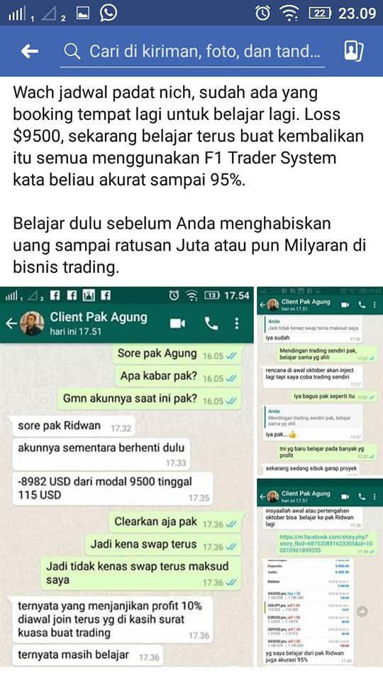 Testimoni trader yang sudah loss sekitar $10.000